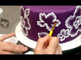 Royal Icing Recipe for Brush Embroidery Cake - Decorando con GLASA REAL by CakesStepbyStep