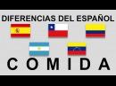 Diferencias del español Comida smart