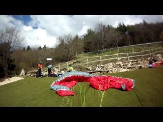 Paraglider crash bassano