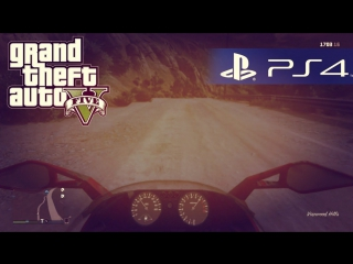 GTA 5 на PS4 - ГОНЯЕМ НА БАЙКЕ