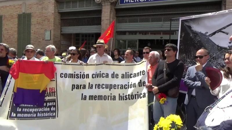 78 ANIVERSARIO DEL BOMBARDEO DEL MERCADO CENTRAL EN ALICANTE (España) 28 de Mayo de 2016