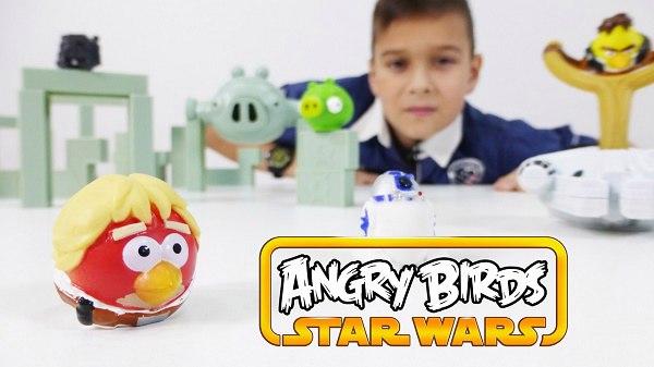 Star Wars и ИгроБой Костя: играем в Angry Birds. Видео для детей