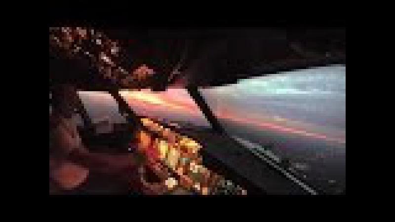 Взлет самолета Вид из кабины пилота Боинг 737 NG