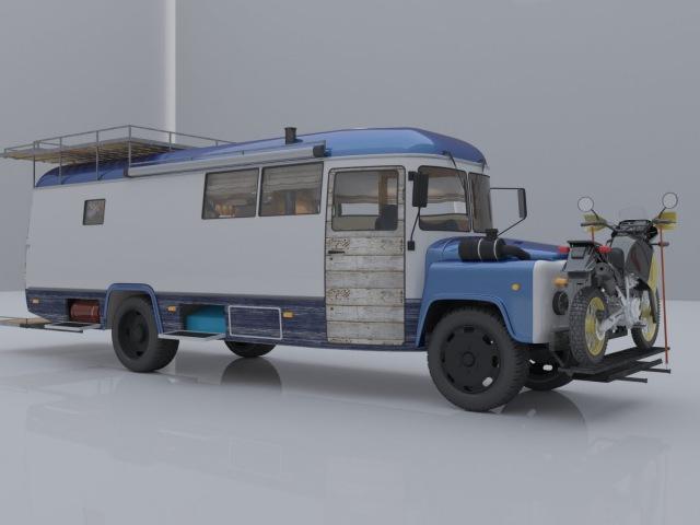 Автодом из удлиненного автобуса КАВЗ 397652 Conversion Russian bus in to motorhome