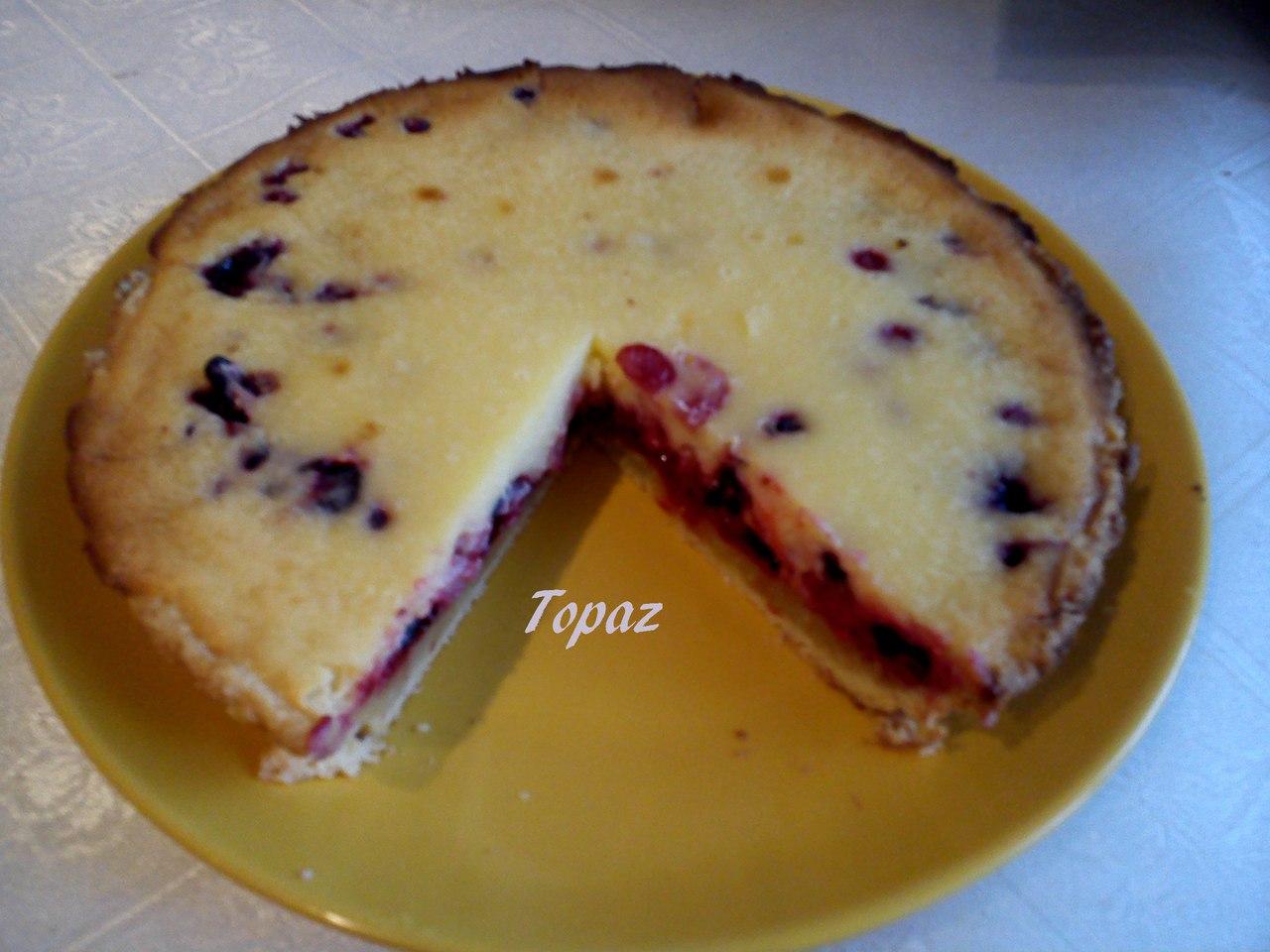 Легкий пирог с ягодами рецепт пошагово