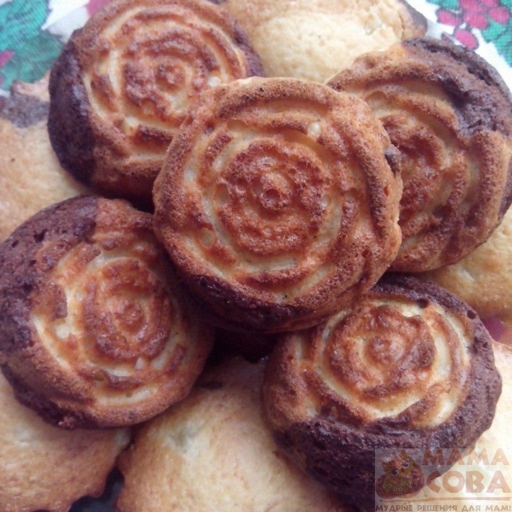 Шоколадно-ананасовые кексы, кекс, шоколадный кекс, без яиц