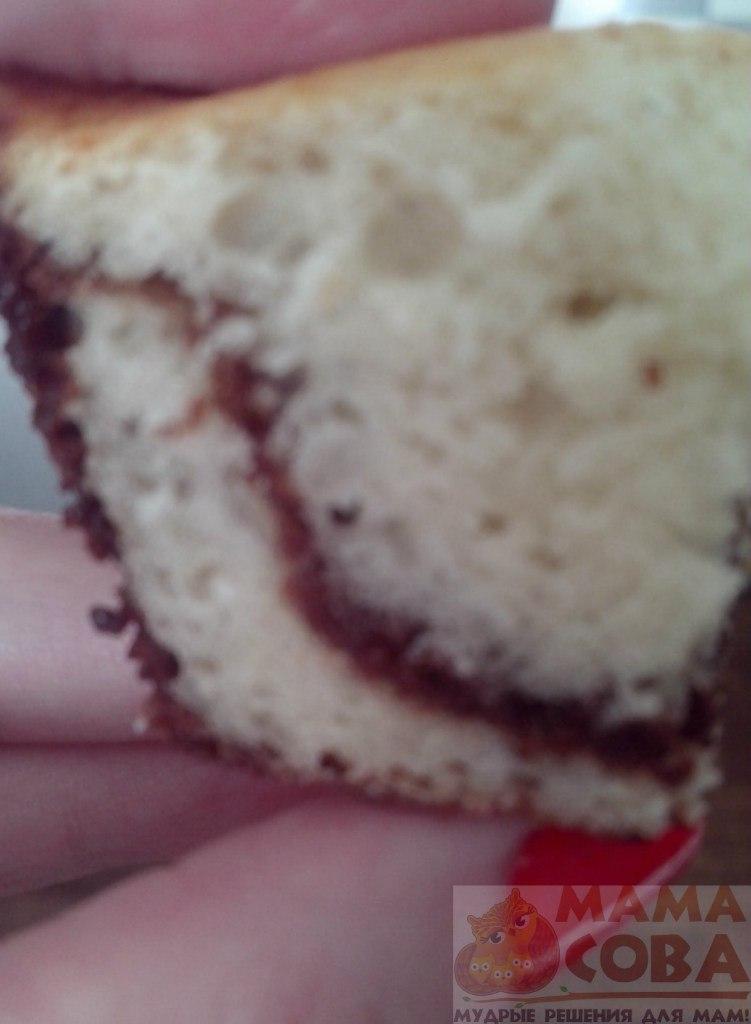 Шоколадно-ананасовые кексы, кекс, шоколадный кекс, без яиц, пирог зебра