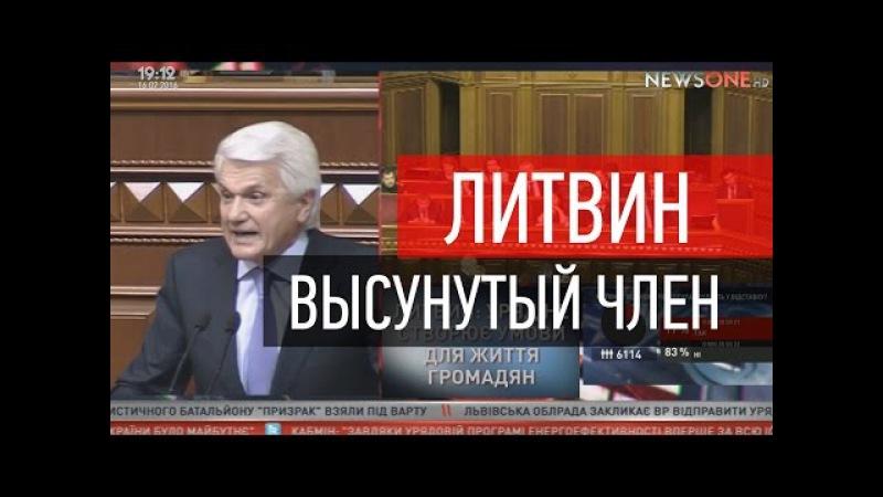 Литвин - Высунутые члены в Верховной Раде.