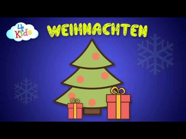 Weihnachten und Weihnachtsgegenstände lernen für Kinder. Alles rund um Weihnachten (deutsch)