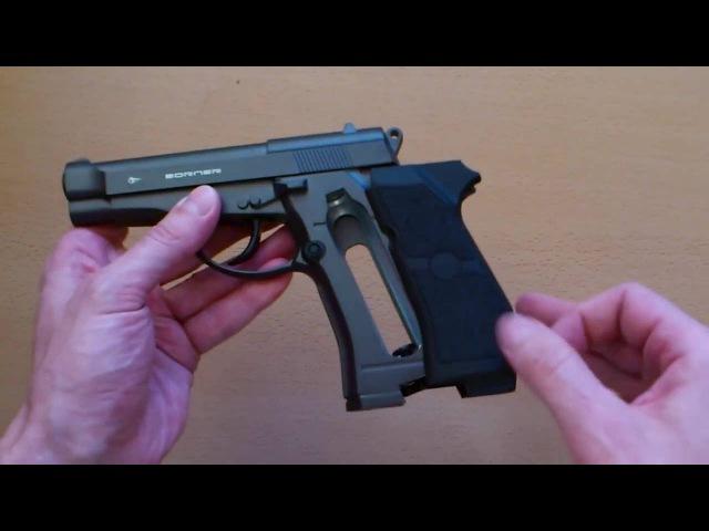 Пневматический пистолет Borner M84 (обзор, данные отстрела по скорости и кучности, цена)
