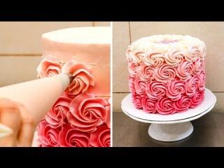 Swirl Buttercream Rosettes Cake / PASTEL DE ROSAS