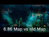 6.86 Map vs old Map detailed comparison — Dota 2