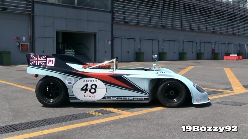 Porsche 908/3 Flat-8 Engine Sound - Warm Up In Action On Track