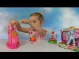 Лалалупси кукла прыгающая на батуте замок с каретой и пони игрушки сюрприз Lalaloopsy toys unboxing
