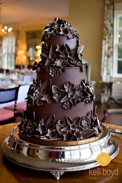 Фото тортов украшенных шоколадом
