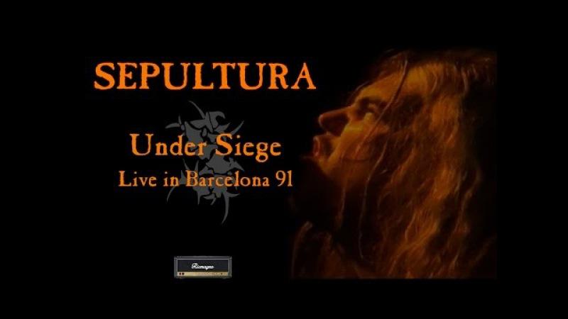SEPULTURA - Under Siege - Live in Barcelona 1991 [Full Concert] Better SoundWidescreen