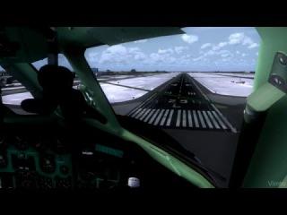 FSX Ту-134А круг в UUEE