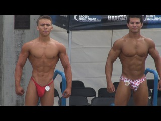 Teen Bodybuilders at Muscle Beach on Labor Day 2013