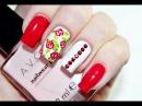 Vintage Rose Rhinestones Nail Art / Дизайн Ногтей с Цветами и Стразами
