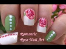 Romantic Vintage ROSE NAIL ART - Toothpick Dotting Tool Floral Nails Design