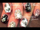 Vintage Grey Mix Match | 5 Black White and Gray Flower Nail Art Designs