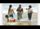 Newly Married Desi Aunty Bathing Enjoying Puri Sea beach