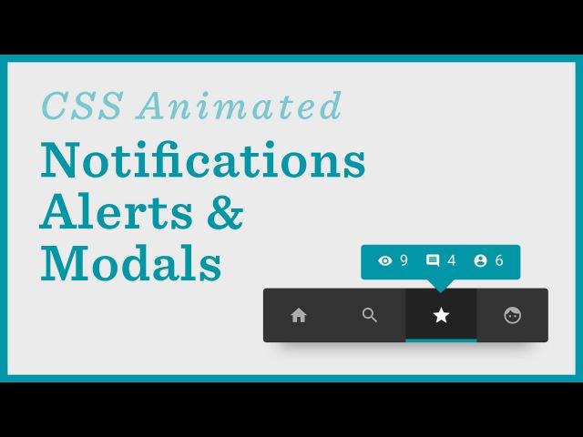 Notifications Alerts Menus CSS Animations