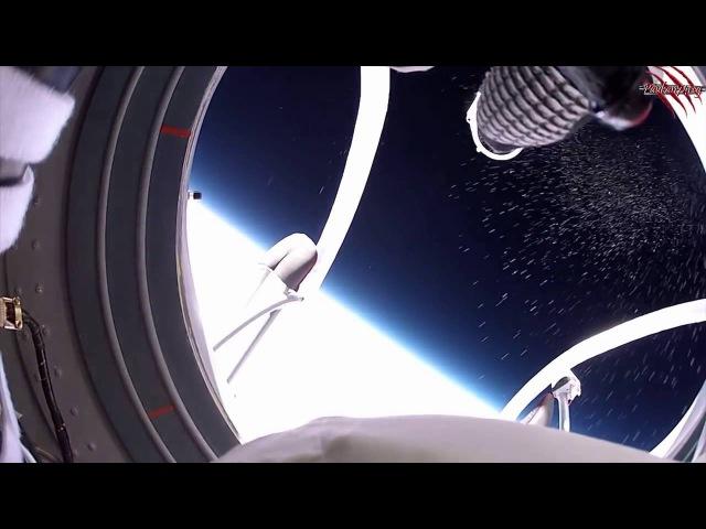 Плоская земля. Прыжок из космоса на землю с камерой GoPro.