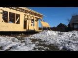 Подъем ОСП на крышу дома