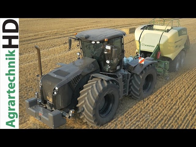 BLACK CLAAS Xerion 4500 | KRONE BiG Pack HDP2 | Baling Press | Stroh pressen | AgrartechnikHD