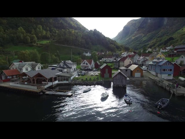 DJI Phantom 4K - Innermost fjord and outermost lighthouse, Sogn Norway