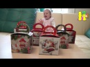 Новогодние подарки, заводные игрушки, сладости, яйца с сюрпризами, Киндер