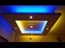 Deckenlampe teilweise mit indirekter Beleuchtung aus GKB (Rigips) - mit Fernbedienung