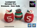 Loomigurumi Christmas Tree Ornament Santa Sack - amigurumi w/ Rainbow Loom Bands