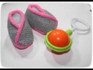 Вязание спицами: Пинетки-кимано