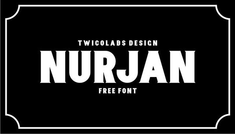 Nurjan шрифт скачать бесплатно