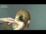 Плетение косы из 4 прядей. (Прическа на 1 сентября) [720p]