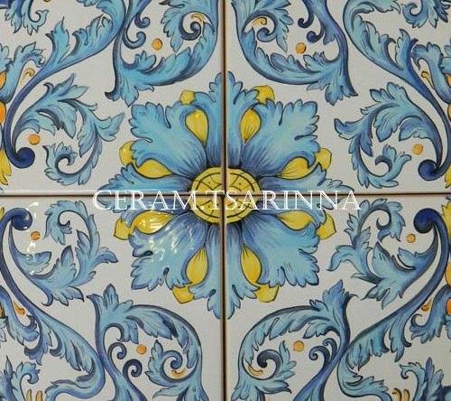 Плитка ручной росписи для кухни и декора стен
