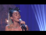 Miley Cyrus Performs Hands of Love with Linda Perry