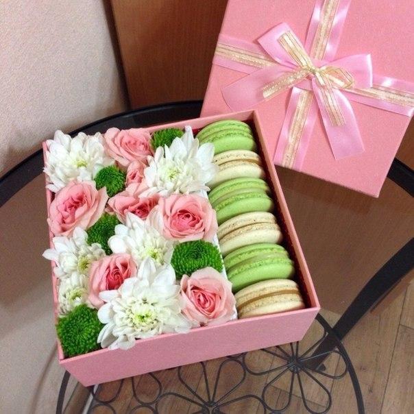 Как сделать коробку с цветами живыми