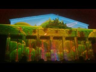 Лазерное шоу на здании Биржи
