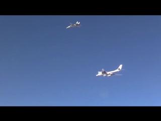 Сирия. Боевые вылеты дальней авиации ВКС РФ в сопровождении Иранских F-14 20.11.2015