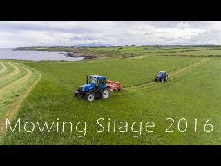 Mowing Silage with a view! - 4K