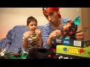 Пират Василич и  мальчик Вова играют с Фёрби. Pirate Vasilich and Vova boy play with Furby.