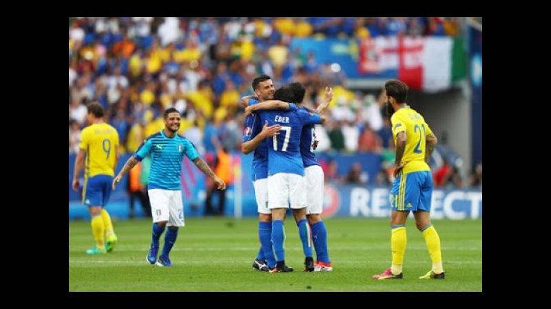 ЕВРО 2016 Италия Швеция 1 0 HD Гол Эдер