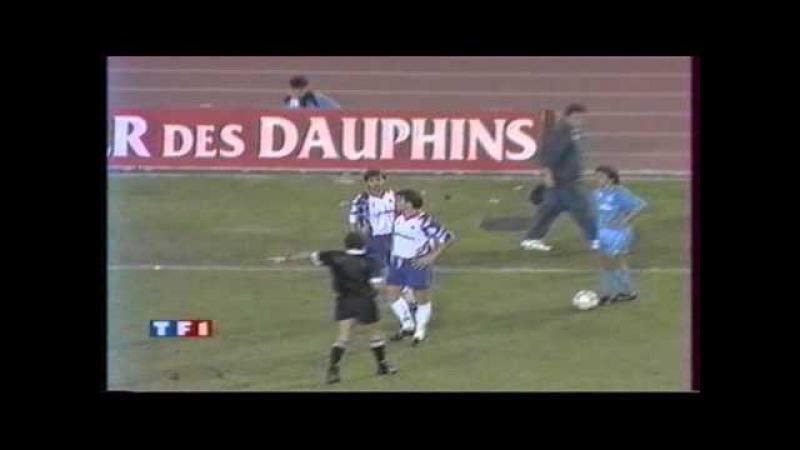 Naples 0 2 PSG 1 16 Aller de Coupe UEFA 1992 1993