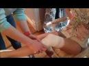Черепашья повязка расходящаяся на коленный сустав Crepe bandage for knee