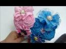 Tiara de Flores en cinta Raso y Gros Flower Tiara on Raso and Gros ribbon
