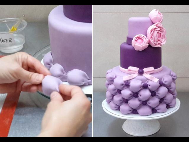 How To Make Billowing Pillows for a Wedding Cake *Decorar con Fondant