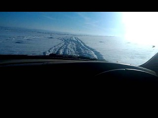 Драйв зимняя дорога - Сибирь, Иркутск ( 9 декабря 2015 )
